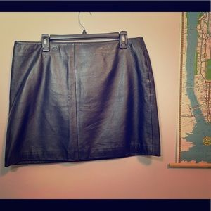 Old Navy Skirts - Genuine leather mini skirt